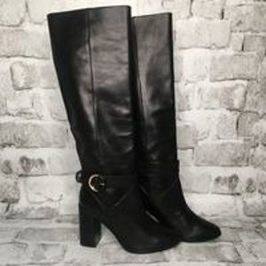 Ted Baker Celsiar Boots Knee High Leather Black